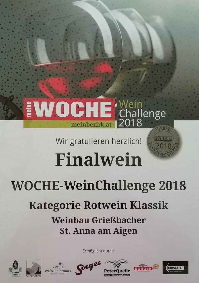 Finalist Woche Wein Challenge